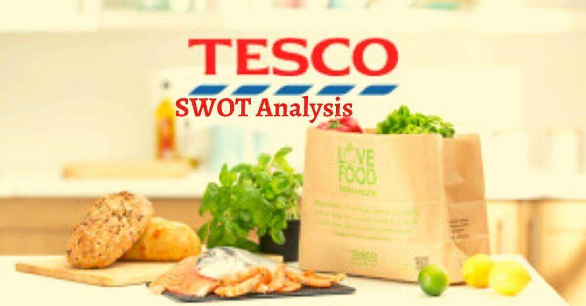 Swot analysis of Tesco analyzes the strengths, weaknesses, opportunities, threats of the top British and multinational grocery retailer.