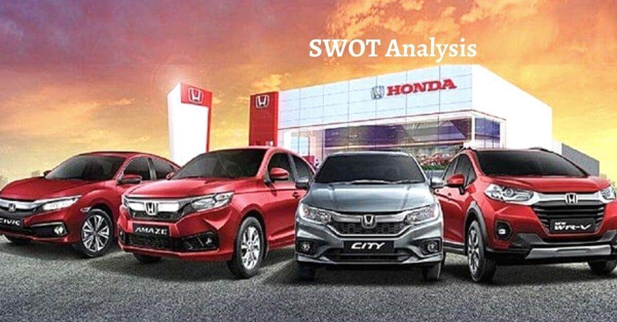 Swot analysis of Honda analyzes the strengths, weaknesses, opportunities, threats of world's leading automotive and motorcycle manufacturing company.